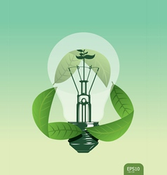 light save the plant concept vector image vector image