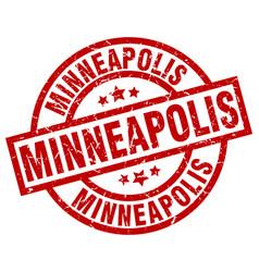 Minneapolis red round grunge stamp vector