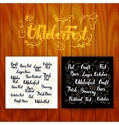 Oktober fest lettering postcards vector