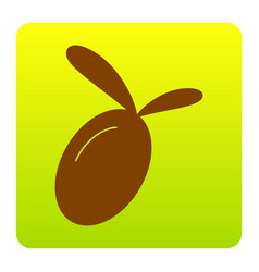 olive sign brown icon at vector image