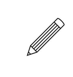 pencil school icon vector image