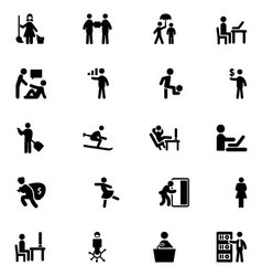 People icons 5 vector