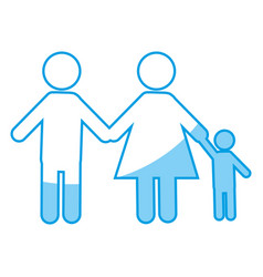 Pictogram family icon vector