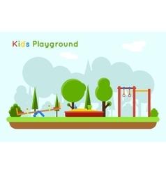 Playground background vector