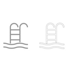 Pool set icon vector