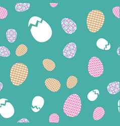 Seamless texture easter eggs with oriental spring vector