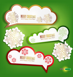 set of winter bubbles stickers labels tags illustr vector image