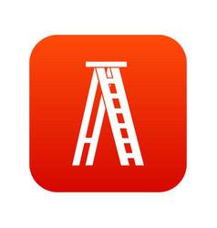 Stepladder icon digital red vector