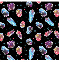 Stone crystal pattern vector