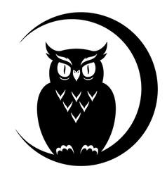 symbol owl vector image vector image