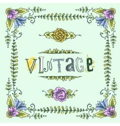 Vintage colored frame vector