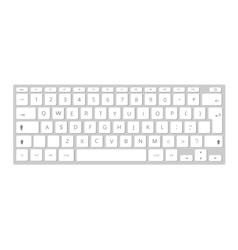 white mobile computer keyboard keypad vector image