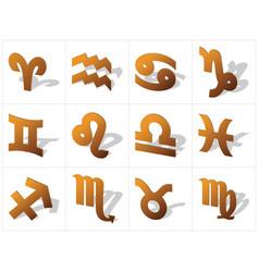 Zodiac in 3d vector