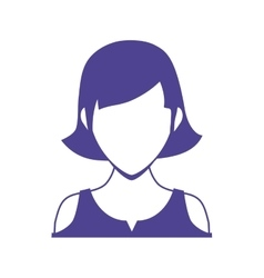 Woman head and torso icon avatar female design vector