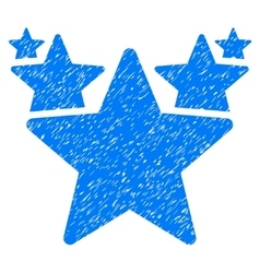 Stars hit parade grainy texture icon vector