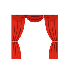Curtain on stage icon flat style vector