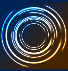 Colorful neon glowing circles abstract logo design vector