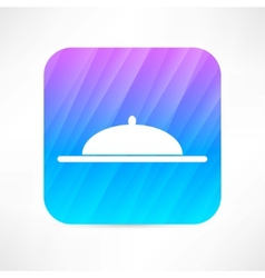 covered dish icon vector image
