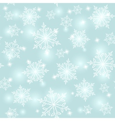 Abstract seamless snowflake background vector