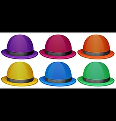 Colourful hats vector