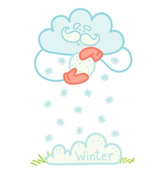 Cloud winter vector