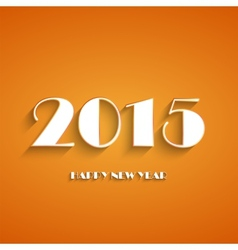 Happy new year 2015 creative greeting card design vector