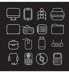 Line craft icons for business with computer theme vector