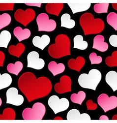 color valentine hearths symbol seamless dark vector image