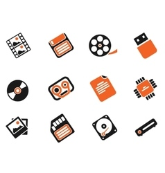 Information carriers icons vector
