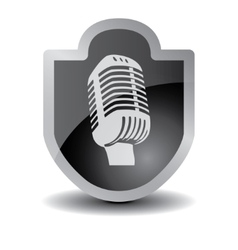Microphone icon sign vector