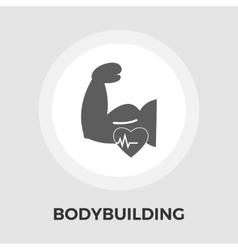 Bodybuilding flat icon vector