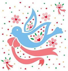 Love pigeon vector