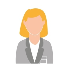 Businesswoman avatar isolated icon design vector