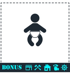 Baby icon flat vector image