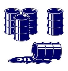 Barrel oil icon set symbol vector