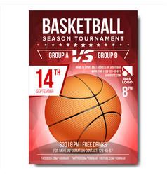 basketball poster banner advertising vector image