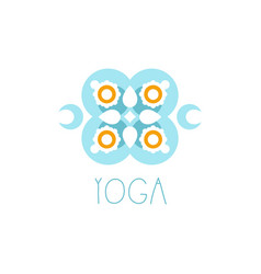 Colorful creative floral ornament yoga logo vector