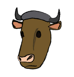 Cow head animal farm agriculture fauna vector