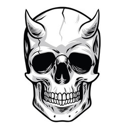 Demon Head Skull vector image