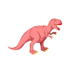 Dino female pink dinosaur isolated ancient vector