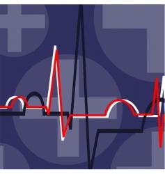 Echo cardio gram vector