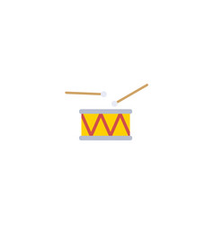Flat drum element of flat vector