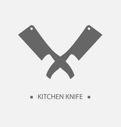 flat kitchen knives for shop and design butcher vector image