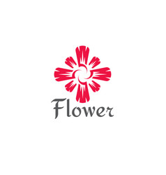 flower abstract logo vector image