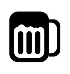 Glass beer drink liquor beverage icon vector