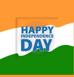 Happy independence day india vector