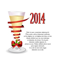 holiday background with one glass of champagne vector image vector image