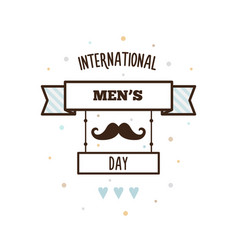 international mens day vector image
