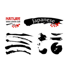 logo templates set with asia landscapes buildings vector image