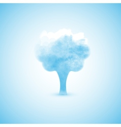 loud in the form of a tree vector image